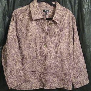 Analogy purple and lavender button up blazer XL